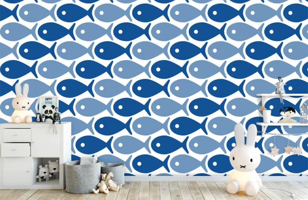 Aquatic Animals - Poisson bleu - Chambre des enfants 5