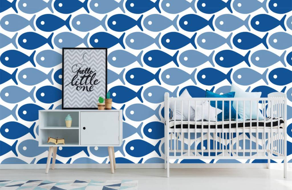 Aquatic Animals - Poisson bleu - Chambre des enfants 6