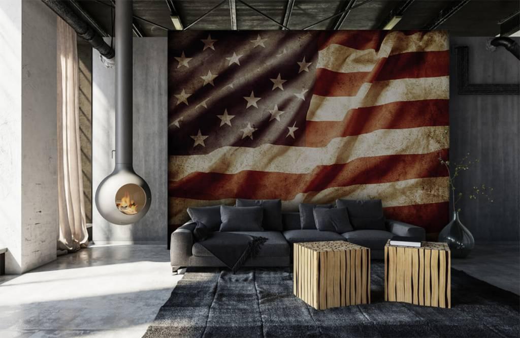 Papier peint garçons - drapeau américain - Chambre d'adolescent 1