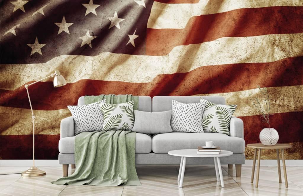 Papier peint garçons - drapeau américain - Chambre d'adolescent 2