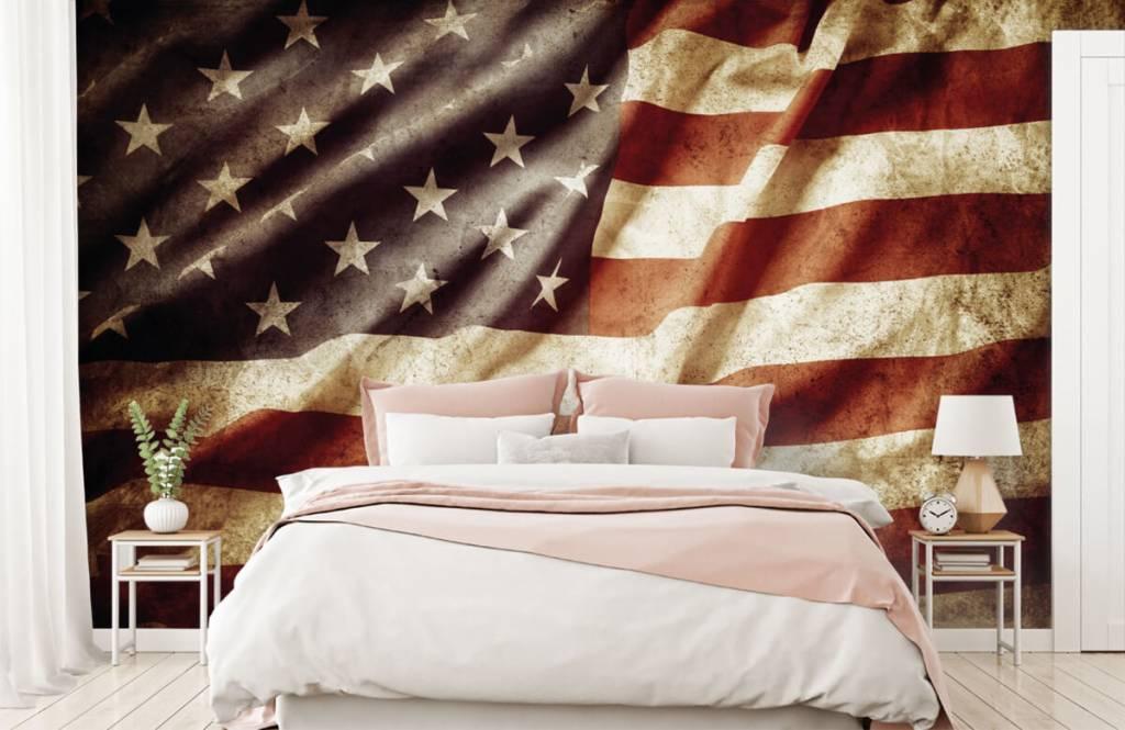 Papier peint garçons - drapeau américain - Chambre d'adolescent 3