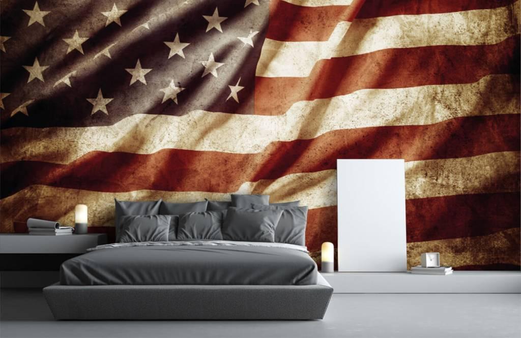 Papier peint garçons - drapeau américain - Chambre d'adolescent 4