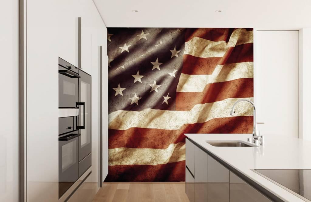 Papier peint garçons - drapeau américain - Chambre d'adolescent 5