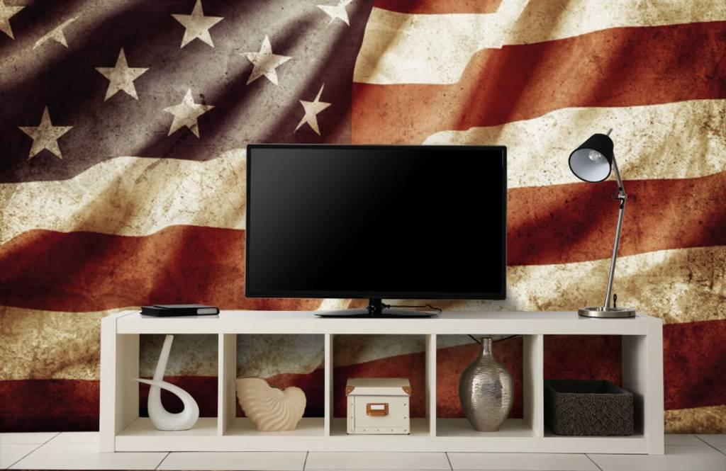 Papier peint garçons - drapeau américain - Chambre d'adolescent 6