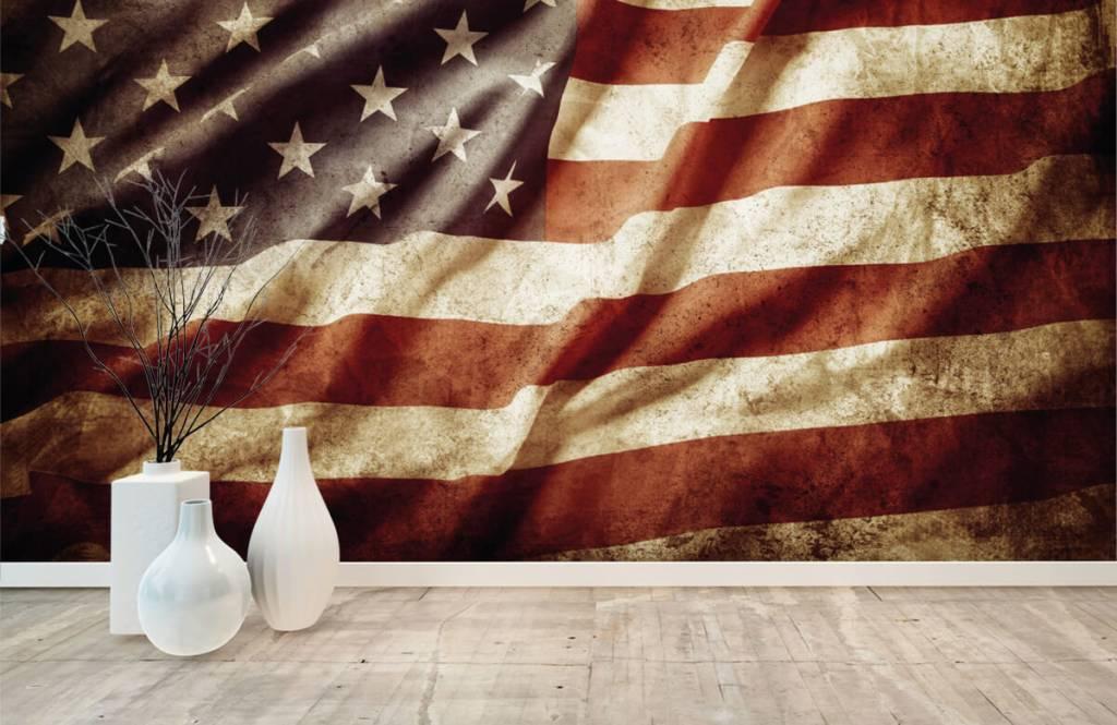 Papier peint garçons - drapeau américain - Chambre d'adolescent 8