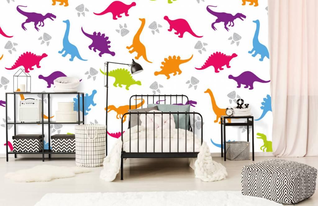 Papier peint garçons - Dîners et pattes - Chambre des enfants 2