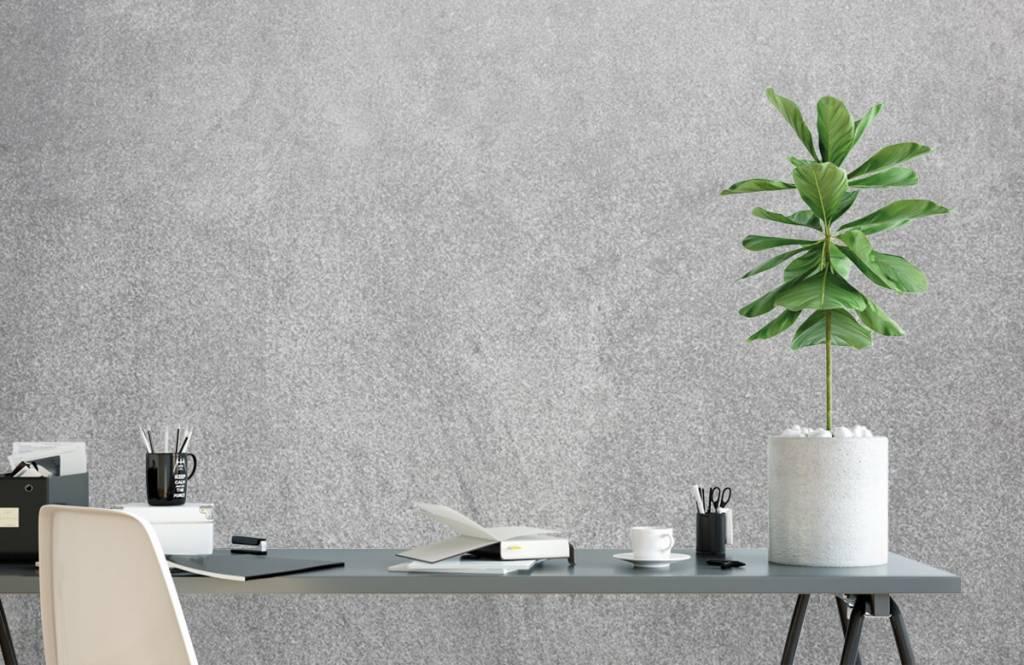 Papier peint aspect concret - Béton sablé foncé - Bureau 2