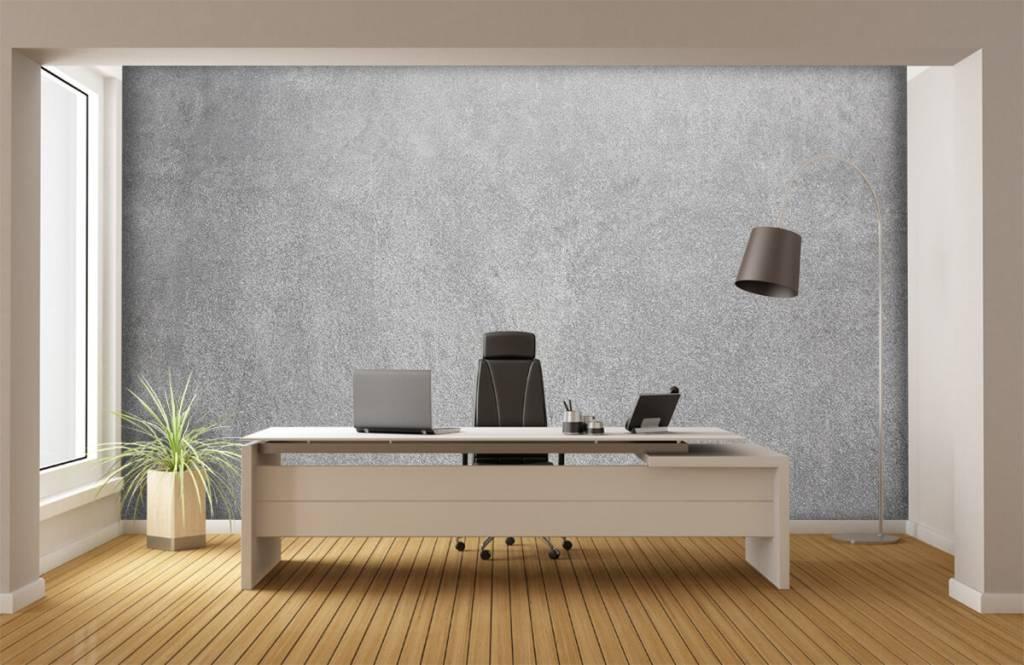 Papier peint aspect concret - Béton sablé foncé - Bureau 3