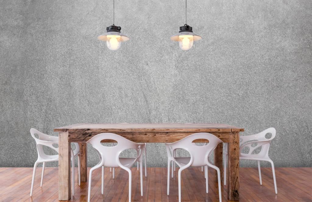 Papier peint aspect concret - Béton sablé foncé - Bureau 6