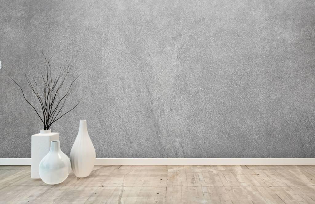 Papier peint aspect concret - Béton sablé foncé - Bureau 7