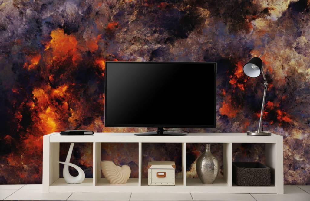 Fond d'écran abstrait - Des nuages de fumée sombres et abstraits - Entrepôt 1