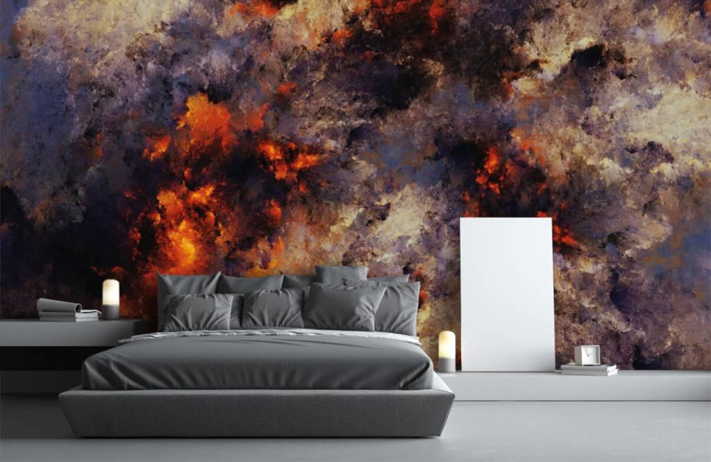 Fond d'écran abstrait - Des nuages de fumée sombres et abstraits - Entrepôt 3