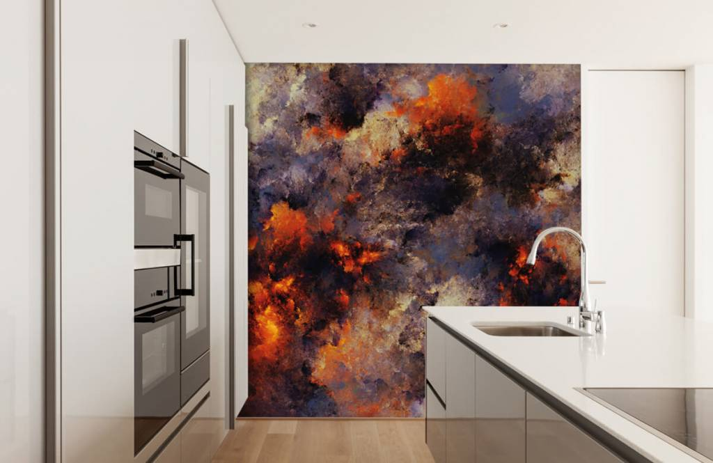 Fond d'écran abstrait - Des nuages de fumée sombres et abstraits - Entrepôt 4