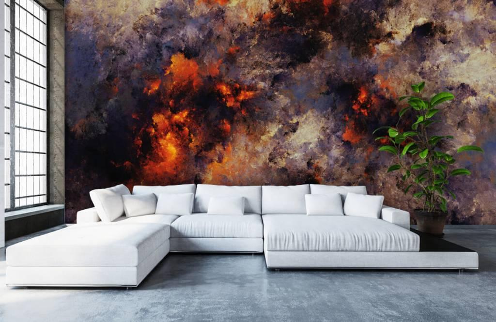 Fond d'écran abstrait - Des nuages de fumée sombres et abstraits - Entrepôt 5