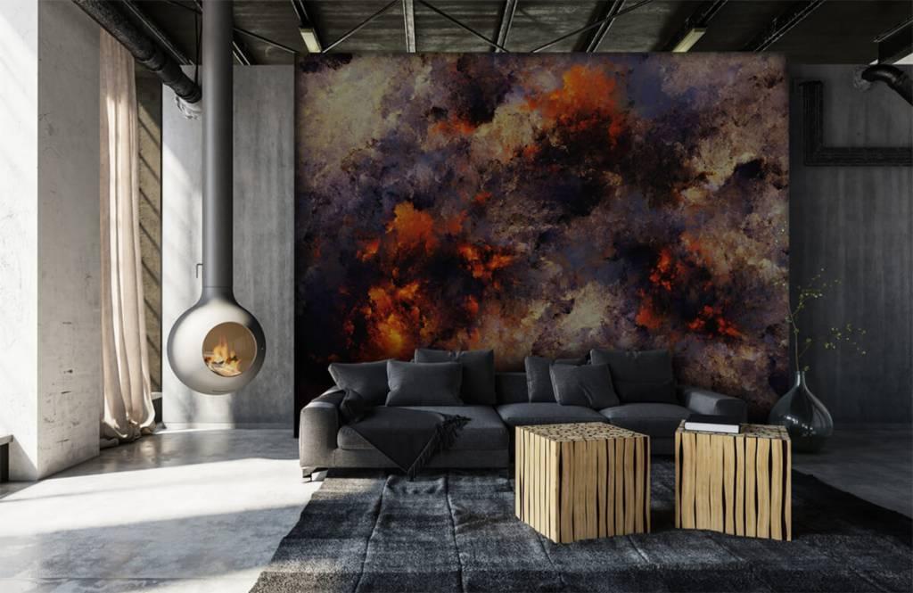 Fond d'écran abstrait - Des nuages de fumée sombres et abstraits - Entrepôt 6
