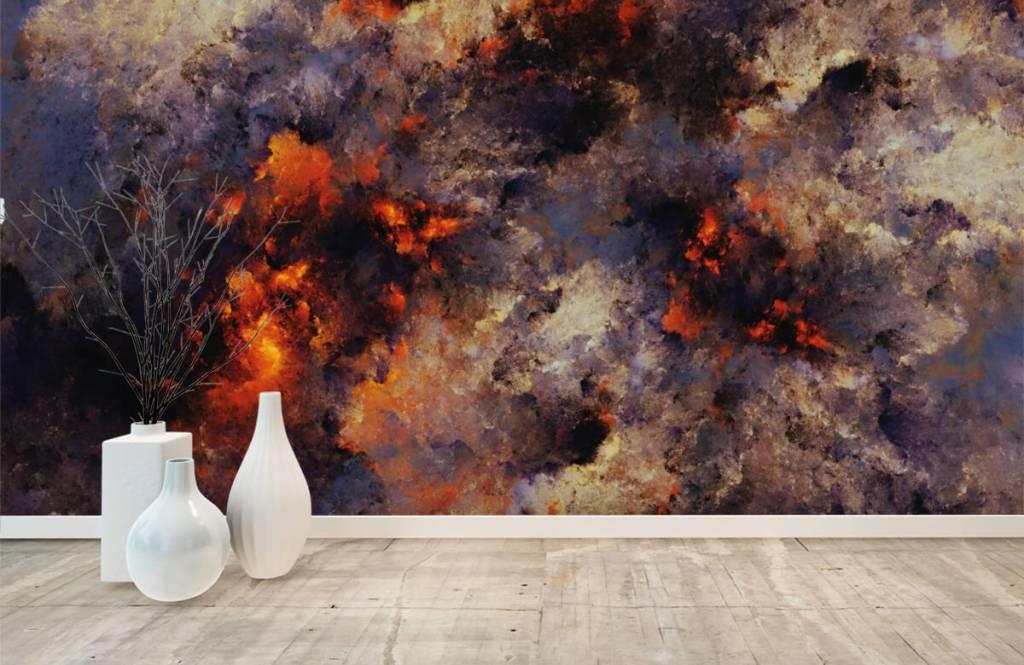 Fond d'écran abstrait - Des nuages de fumée sombres et abstraits - Entrepôt 8