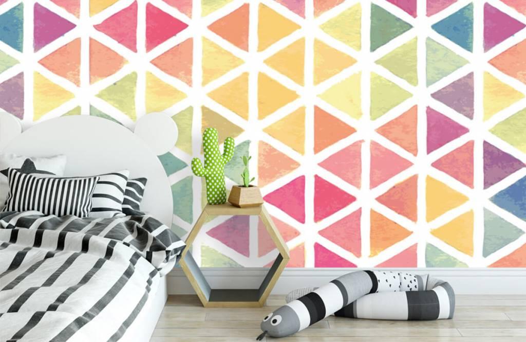 Other - Triangles à effet aquarelle - Chambre des enfants 2