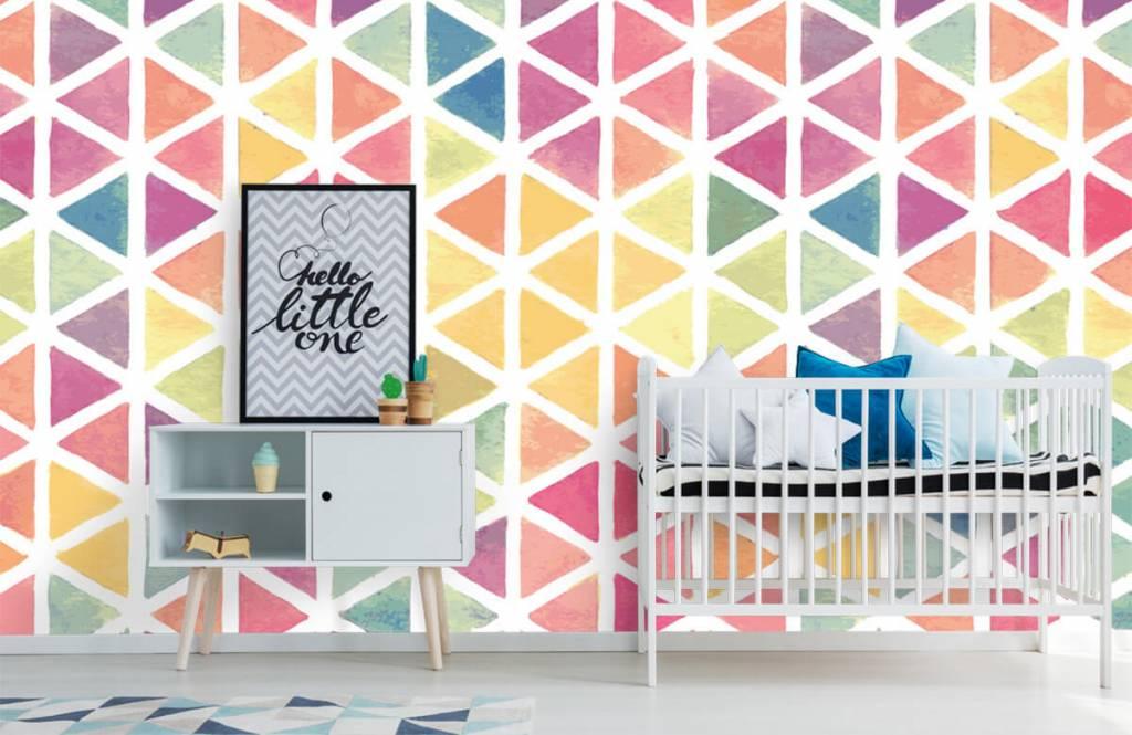 Other - Triangles à effet aquarelle - Chambre des enfants 3