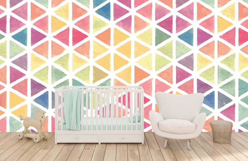 Other - Triangles à effet aquarelle - Chambre des enfants 4