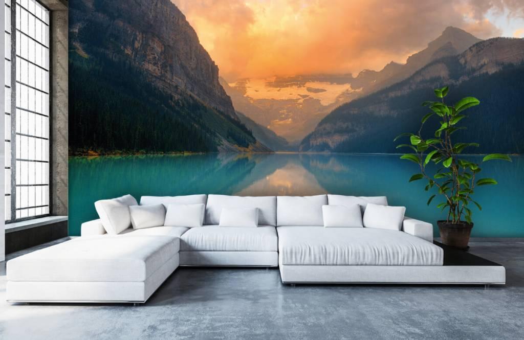 Lacs et eaux - Lac de montagne avec un filtre vintage - Bureau 5