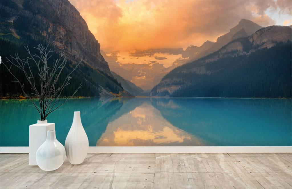 Lacs et eaux - Lac de montagne avec un filtre vintage - Bureau 8