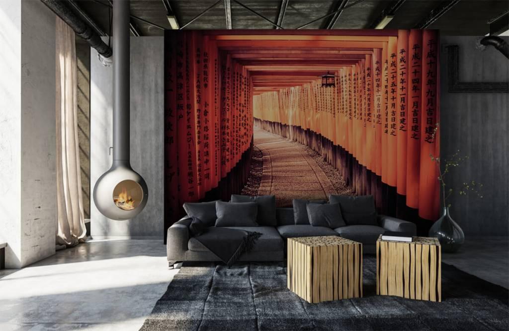 Papier peint Villes - tunnel chinois - Chambre à coucher 1
