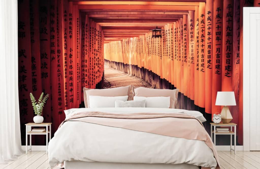 Papier peint Villes - tunnel chinois - Chambre à coucher 3