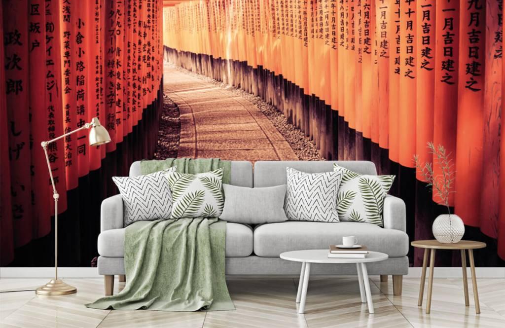 Papier peint Villes - tunnel chinois - Chambre à coucher 7