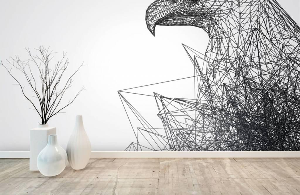 Animals - Faucon abstrait - Salle informatique 8