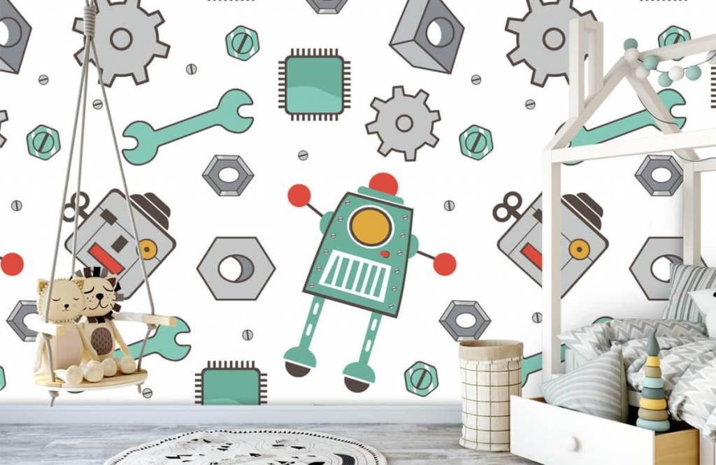 Papier peint enfants - Robots signés - Chambre des enfants 1