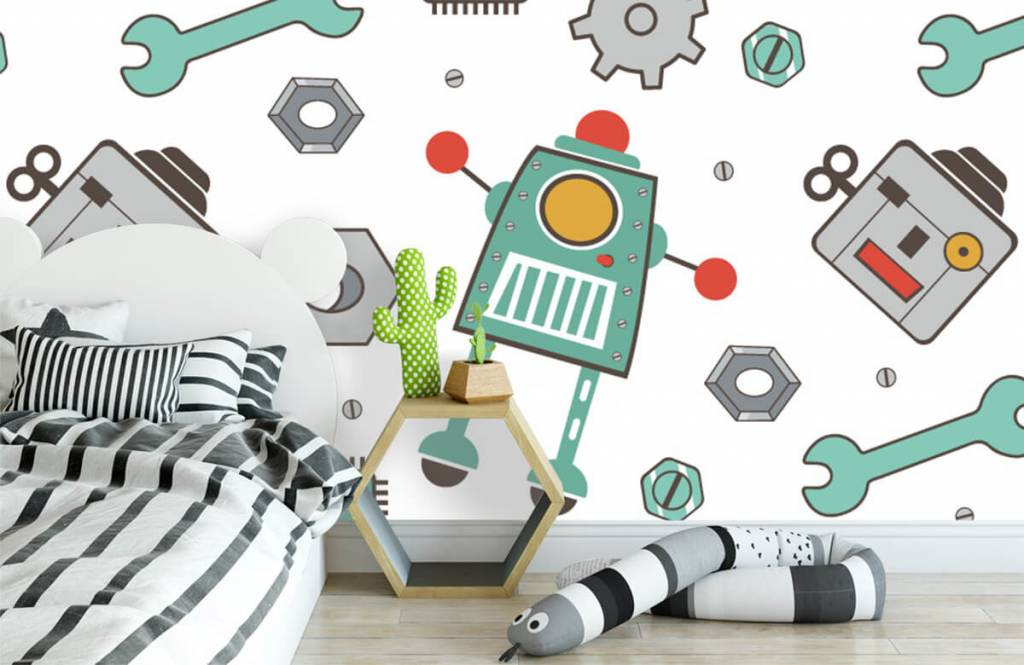 Papier peint enfants - Robots signés - Chambre des enfants 3