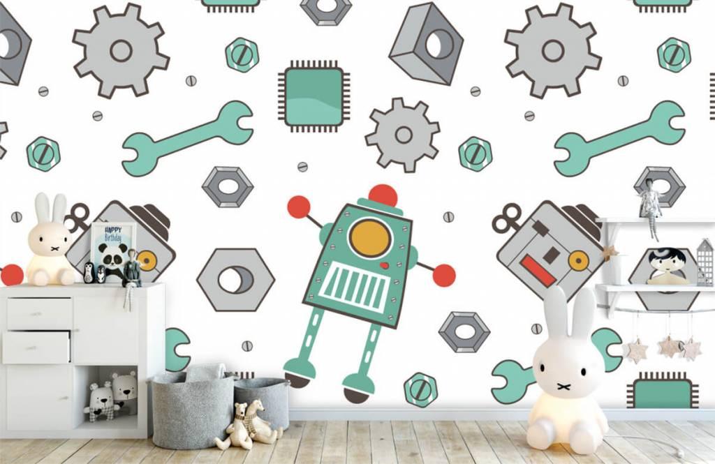 Papier peint enfants - Robots signés - Chambre des enfants 4