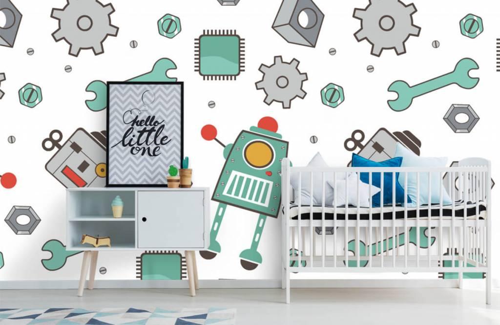Papier peint enfants - Robots signés - Chambre des enfants 6
