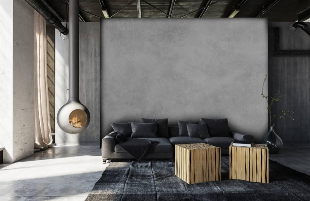 Papier peint aspect concret - Structure en béton brillant - Bureau 6