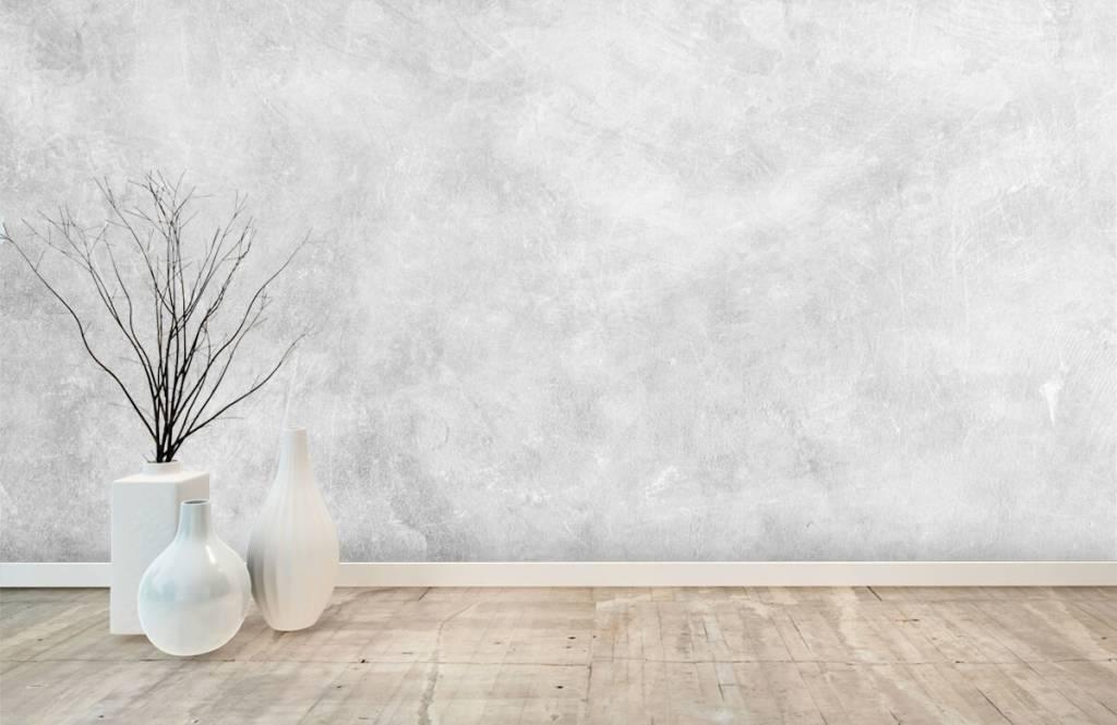 Papier peint aspect concret - Structure en béton brillant - Bureau 8