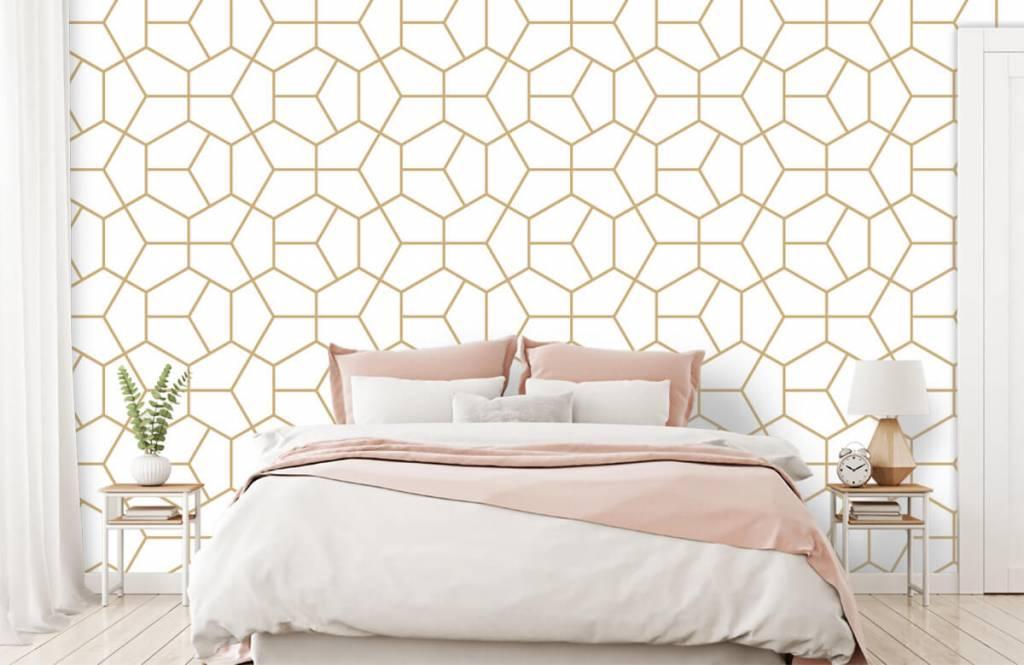 Other - Motif géométrique en or - Chambre à coucher 1