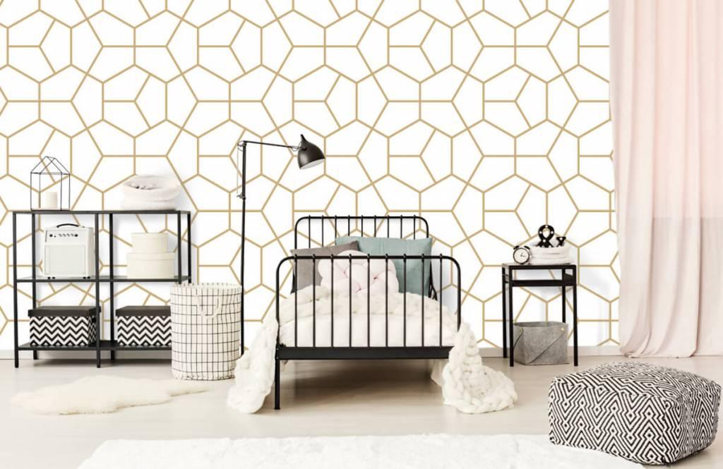 Other - Motif géométrique en or - Chambre à coucher 2