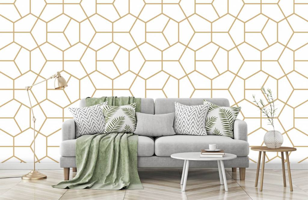 Other - Motif géométrique en or - Chambre à coucher 5