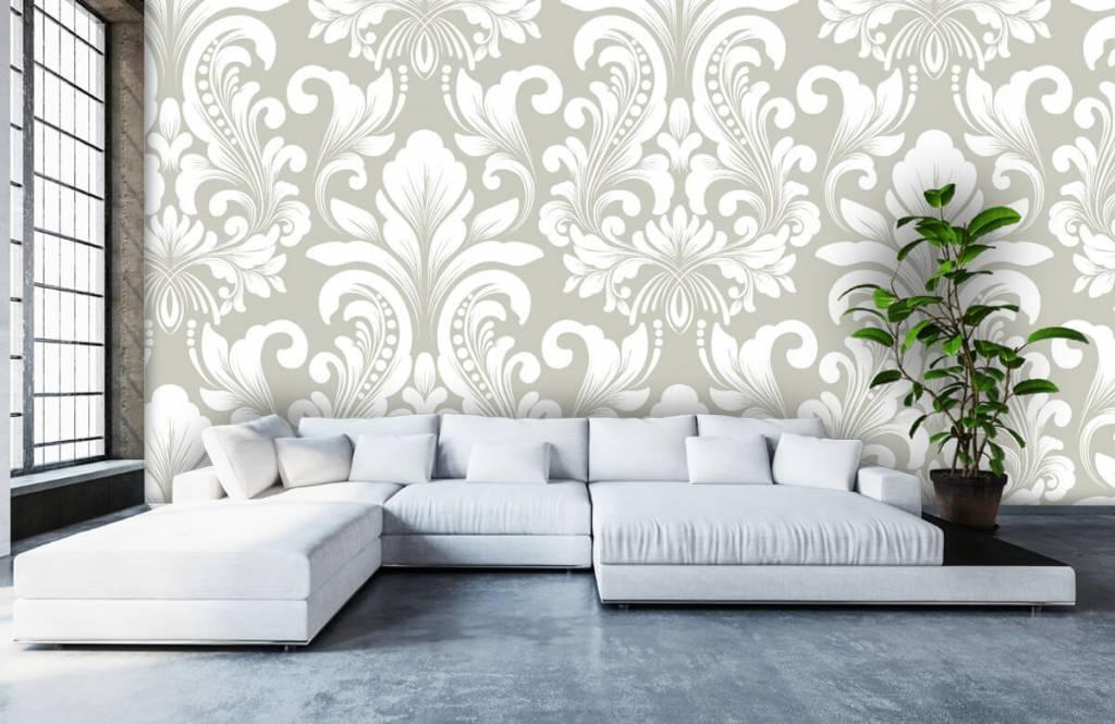 Papier peint baroque - Motif brouillard nuageux - Chambre à coucher 6