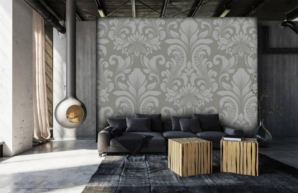 Papier peint baroque - Motif brouillard nuageux - Chambre à coucher 7