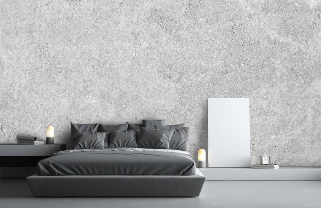 Papier peint aspect concret - Structure en béton gris - Cuisine 1