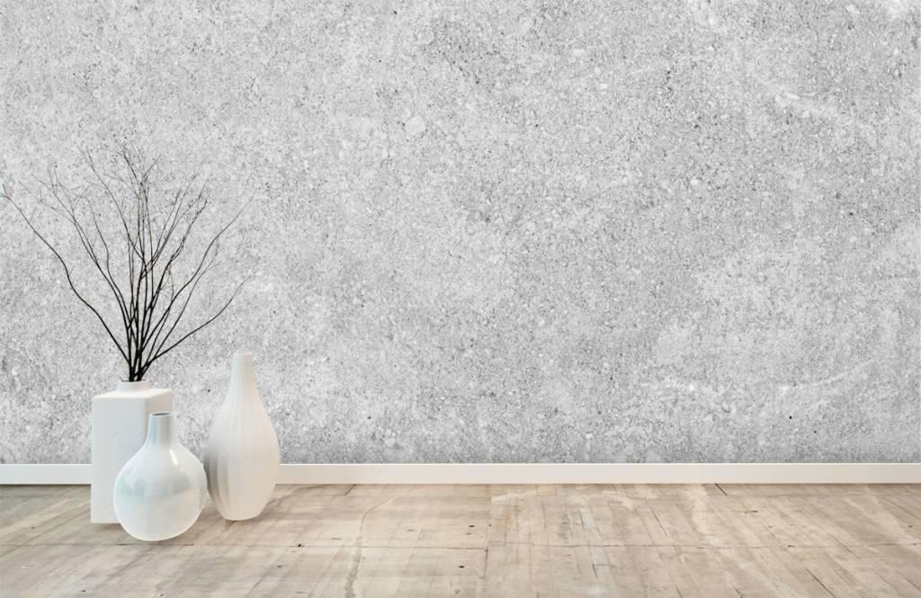 Papier peint aspect concret - Structure en béton gris - Cuisine 4