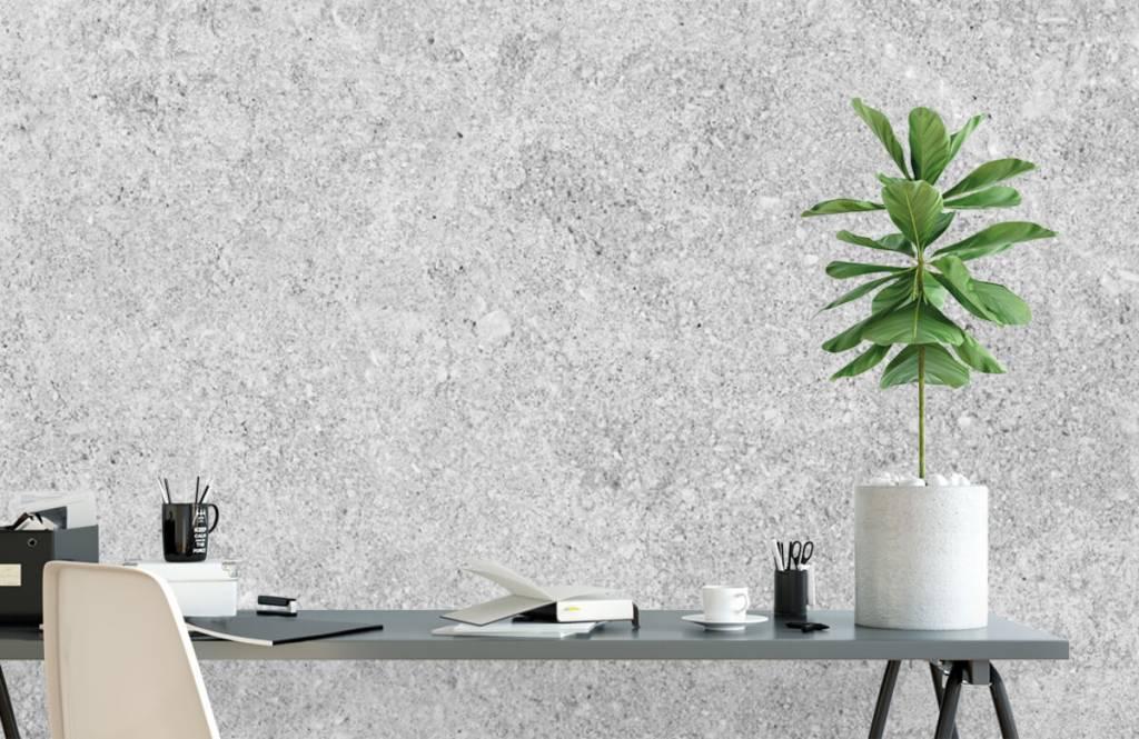 Papier peint aspect concret - Structure en béton gris - Cuisine 6