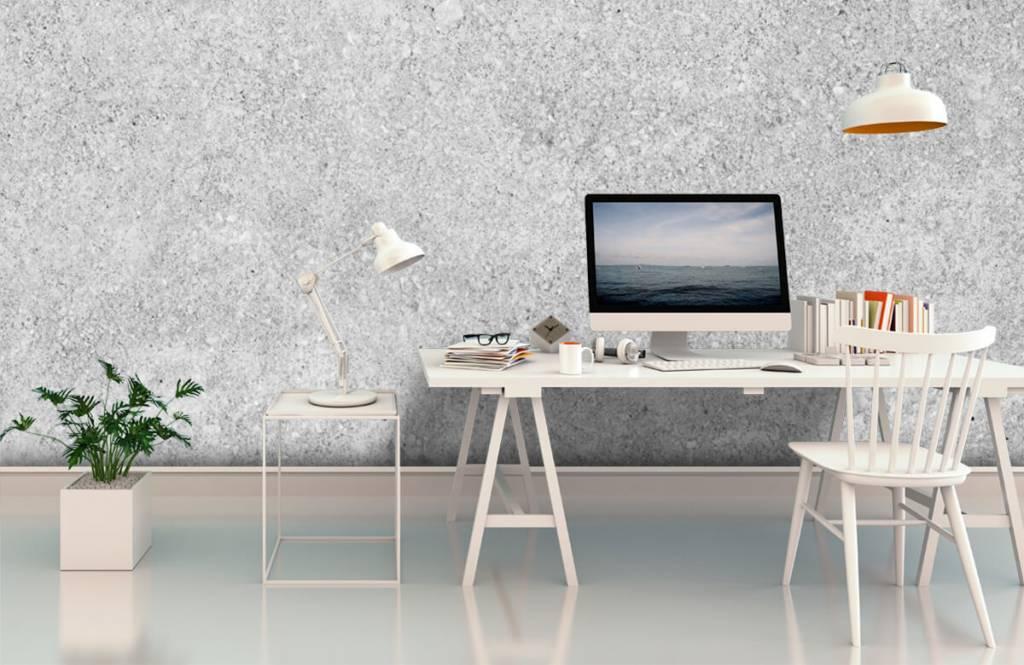 Papier peint aspect concret - Structure en béton gris - Cuisine 7