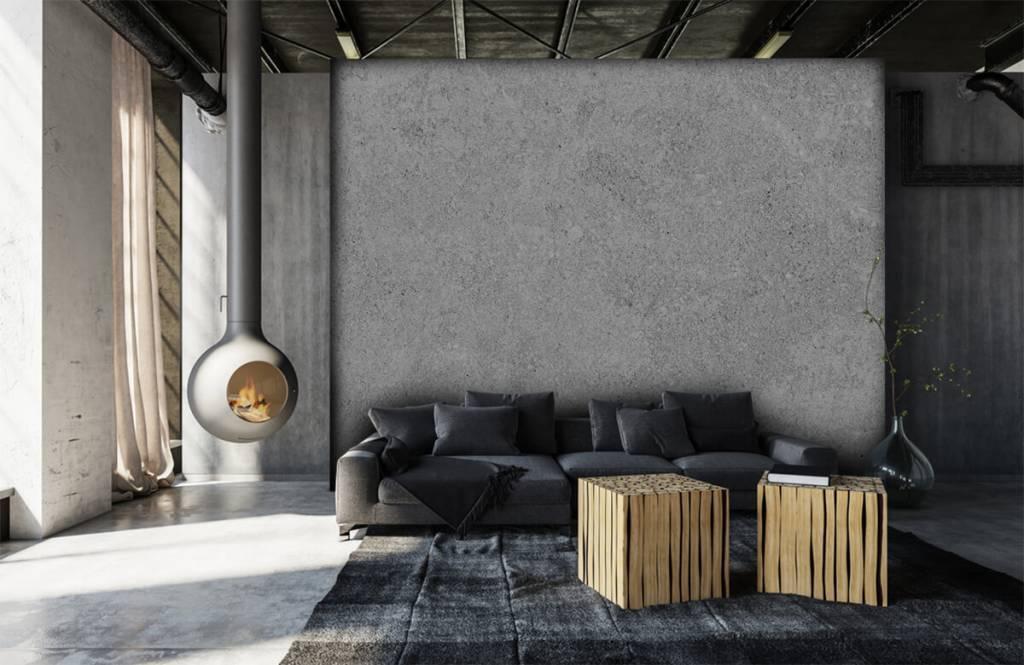 Papier peint aspect concret - Structure en béton gris - Cuisine 8