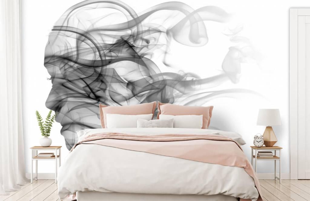Papier peint moderne - Tête formée de fumée - Bureau 2
