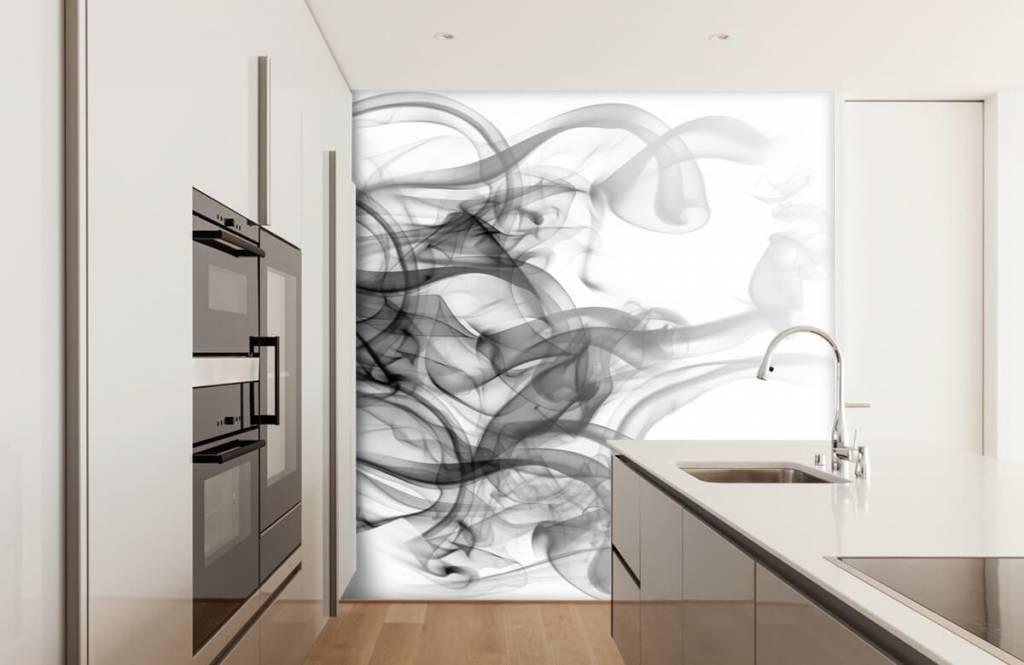 Papier peint moderne - Tête formée de fumée - Bureau 4