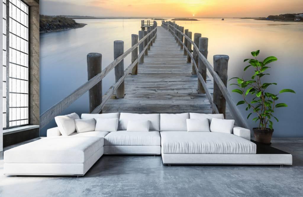 Lacs et eaux - Ponton au coucher du soleil - Salle de séjour 6