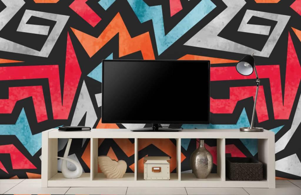 Graffiti - Impression graphique en couleur - Chambre d'adolescent 1