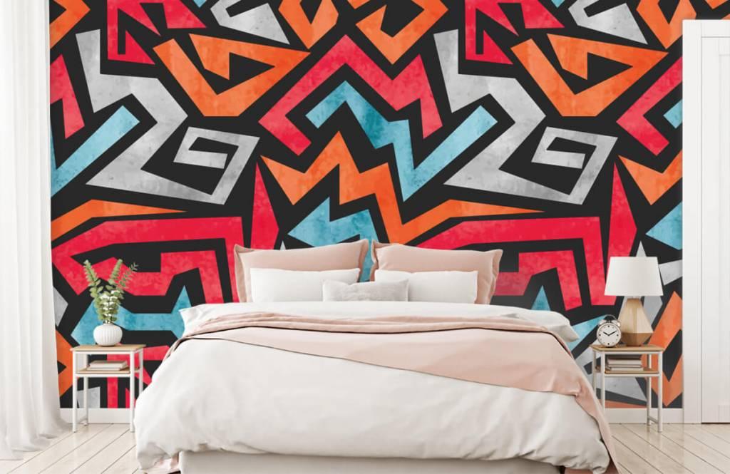 Graffiti - Impression graphique en couleur - Chambre d'adolescent 2